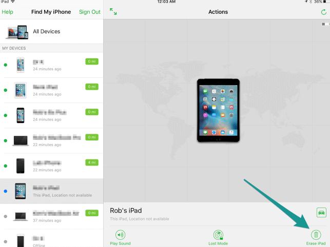 effacer le contenu déverrouiller l'iphone sans iTunes