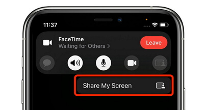 partage d'écran avec d'autres personnes pendant un appel Facetime