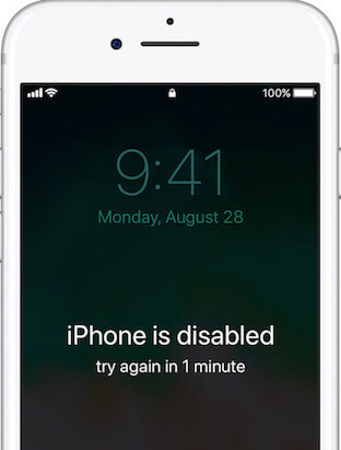 how to backup disabled iphone