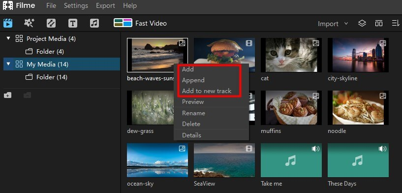 add image to video track