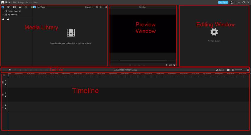 l'interface d'iMyFone Filme