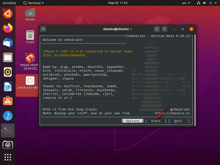 Checkra1n sur Linux