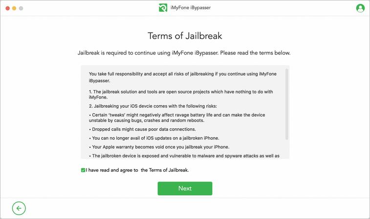 Conditions concernant le jailbreak