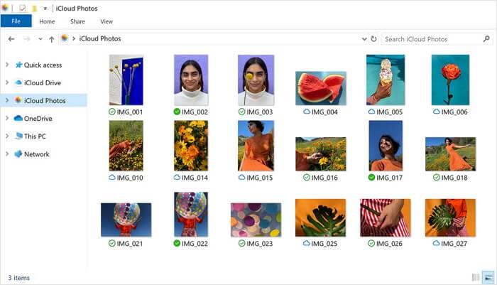 les photos iCloud sur ordinateur
