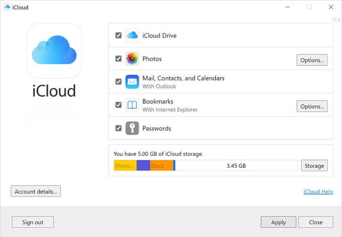 synchroniser les photos avec iCloud