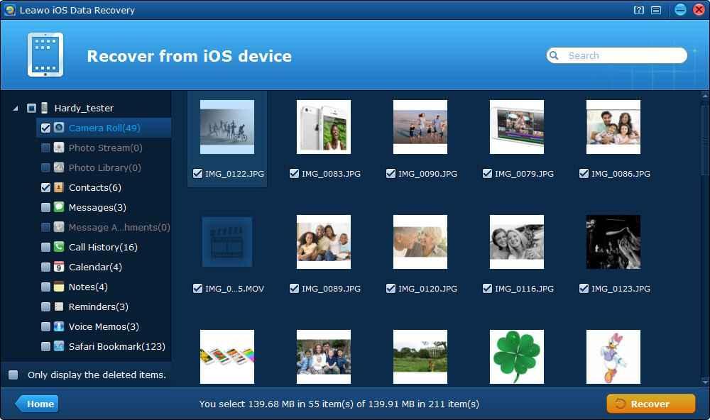 Leawo iPod photo recovery