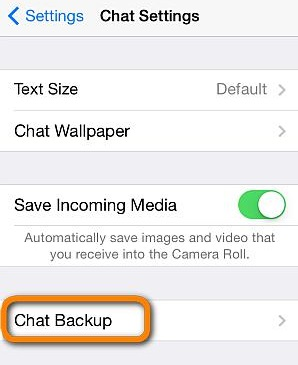 steps to backup whatsapp messages to icloud