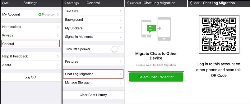Transfer iPhone WeChat Chat to Another Phone