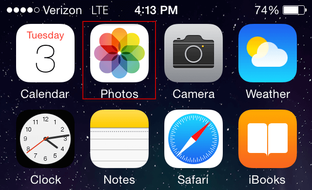 can not delete photos from ipad
