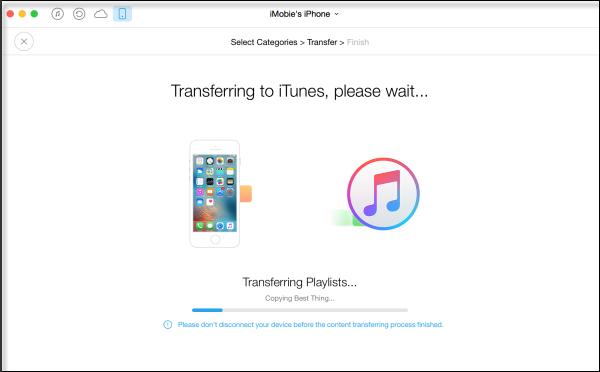 AnyTrans Transfert de musique sur iPhone