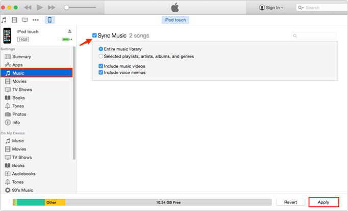 how to add music to iPod Nano with iTunes