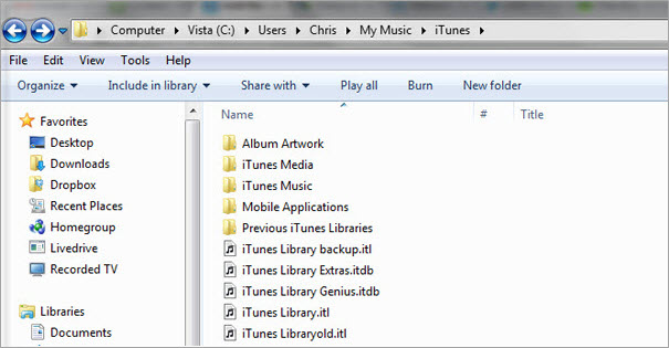 iTunes Library.itl file