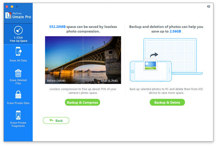 backup and delete photos