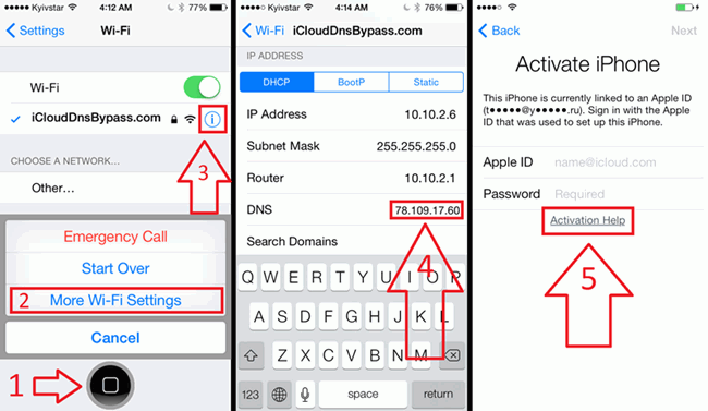 supprimer l'activation iCloud