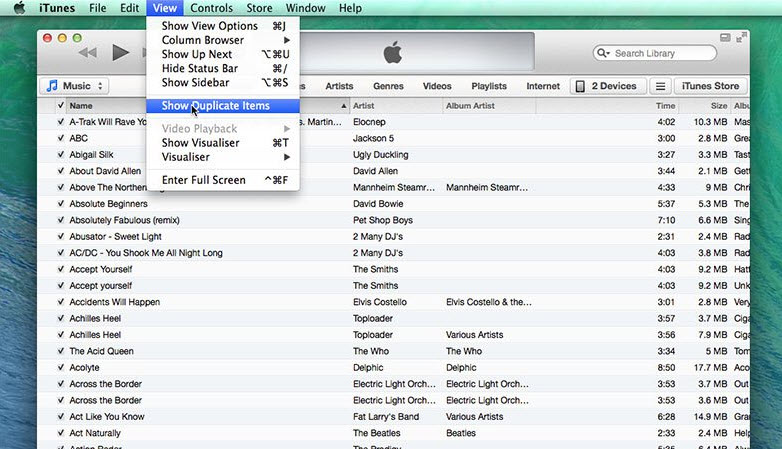 itunes Delete Duplicate Songs on iPhone