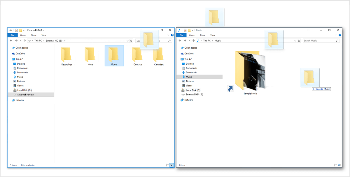 move itunes library to new computer