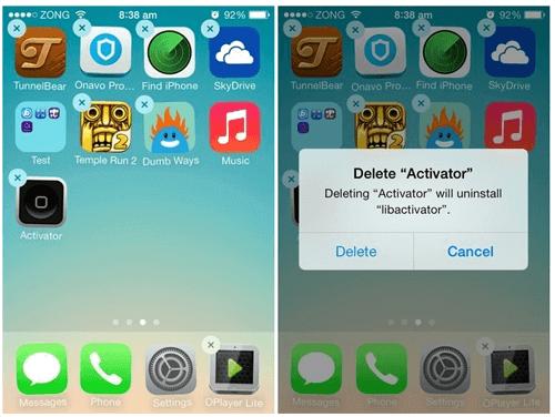 supprimer app sur iOS 12