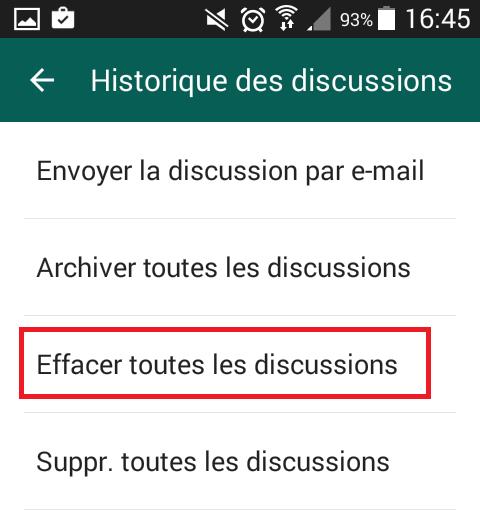 Supprimer définitivement un message Whatsapp sur votre iPhone