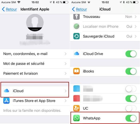 Enregistrer des Messages Audio WhatsApp en utilisant iCloud