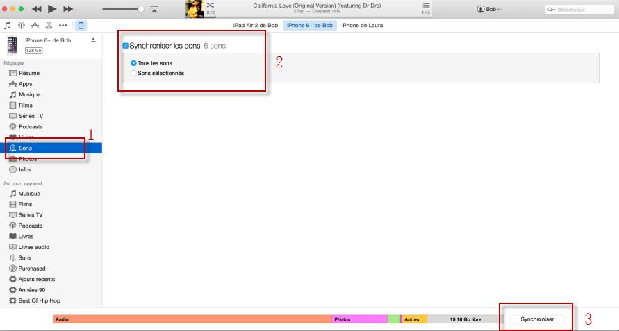 Comment ajouter des sonneries sur iPhone avec iTunes