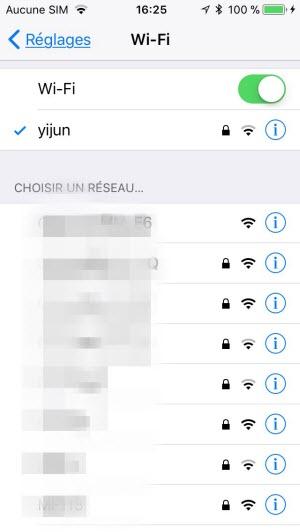connexion à Wi-Fi