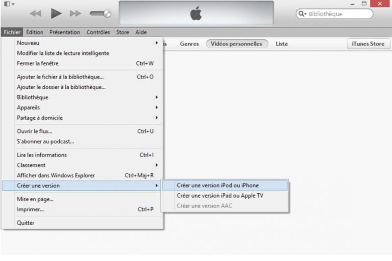 convertir films sur iPad version