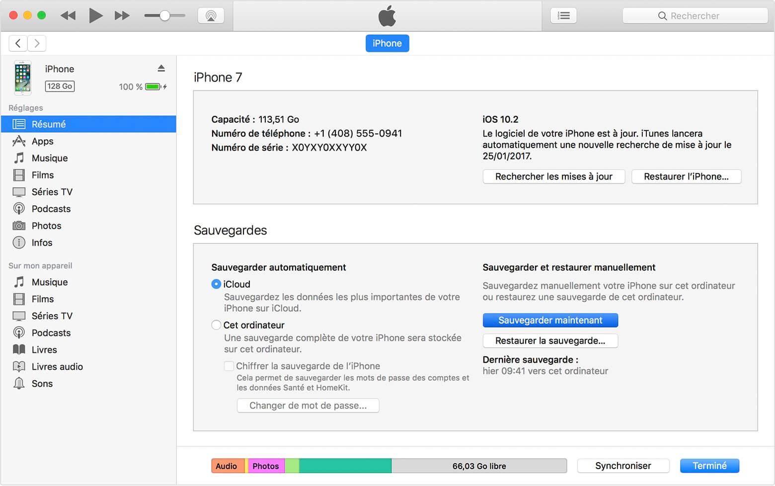 Sauvegarder iPad sur PC