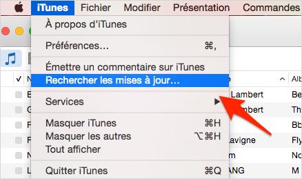 mise à jour iTunes sur Mac