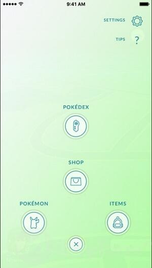 les réglages pokemon go