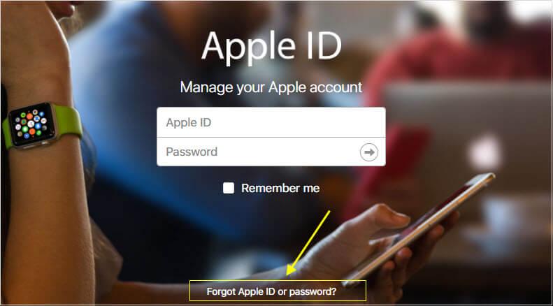 Oublier Apple ID ou mot de passe