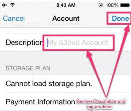 étape 3 pour supprimer iCloud