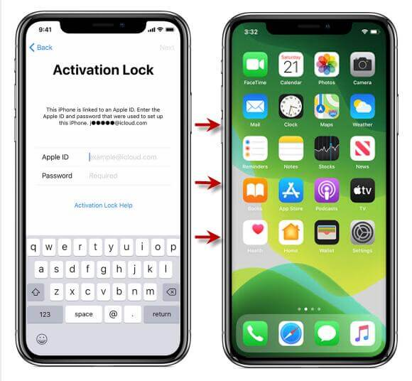 supprimer le verrouillage d'activation d'iCloud