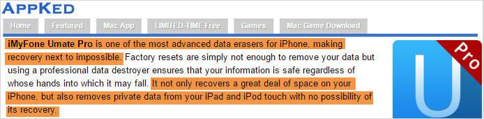 avis sur iMyFone Umate Pro