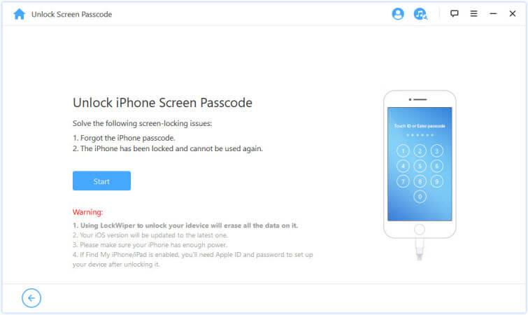 supprimer le verrouillage de l'écran d'un iphone