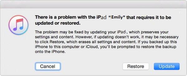réinitialiser ipad sans mot de passe grâce au mode de récupération