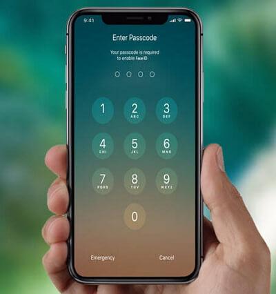 à propos du mot de passe sur iphone