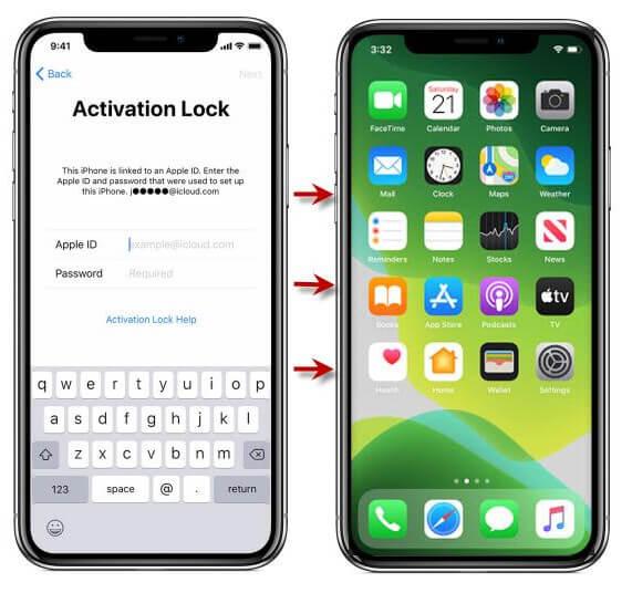 retirer le verrouillage d'activation sans carte SIM