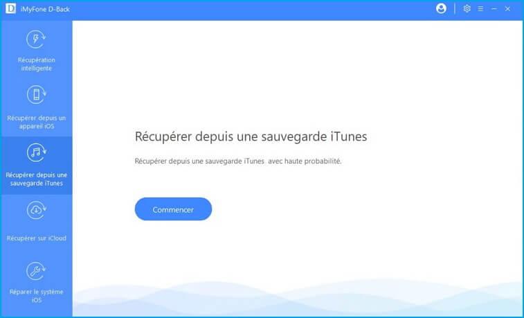 Récupérez à partir d'iTunes
