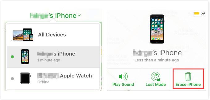 effacer les données iPhone avec iCloud