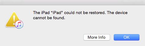 l'iphone ne peut pas être restauré