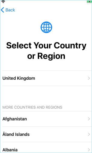 Sélectionner votre pays ou région