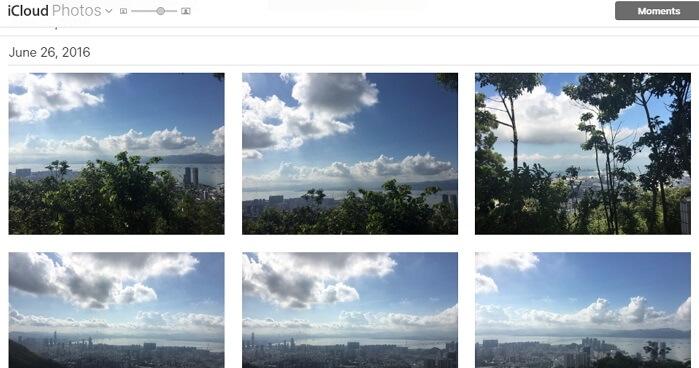 télécharger des photos avec iCloud