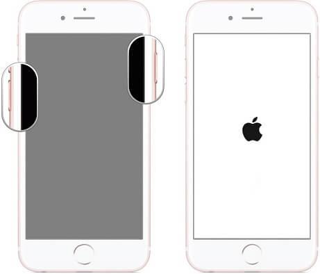 forcer le redémarrage iPhone 7 pour réparer l'iPhone