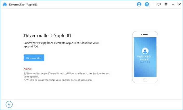 Déverrouiller l'Apple ID