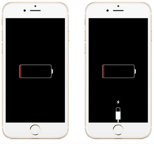 iPhone bloqué sur l'écran de charge