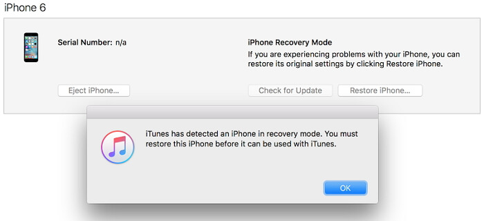 restauration de l'iPhone avec iTunes