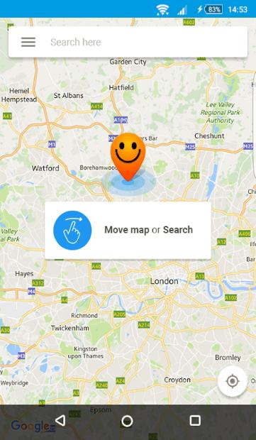 chercher une adresse