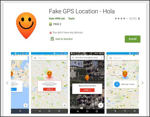 installer Fake GPS Location - Hola