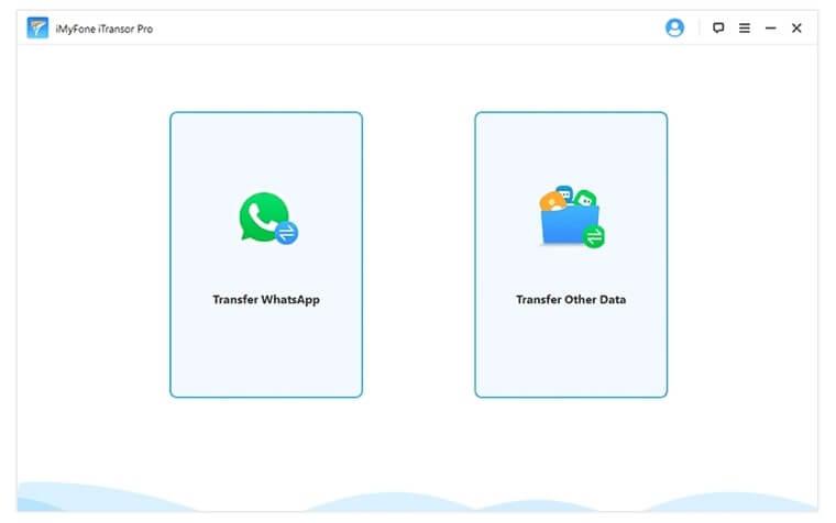cliquez sur transfert de données whatsapp