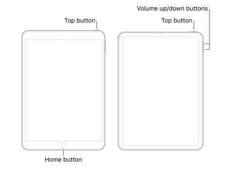 forcer le redémarrage d'un ipad bloqué durant une mise à jour